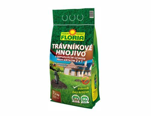 Trávnikové hnojivo sodpudzujúcim účinkom proti krtkom